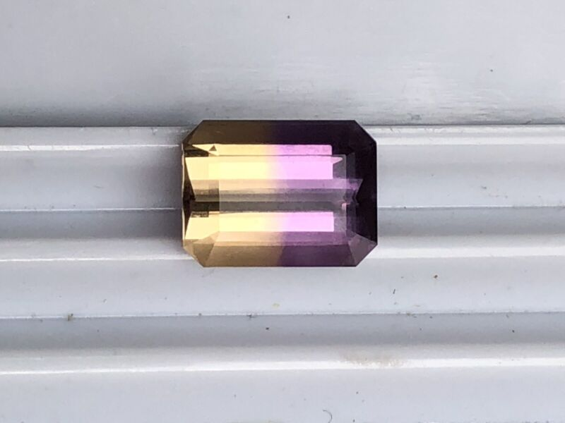 Genuine AMETRINE 4.60 cts. Emerald Shape 12x9x6mm US Seller