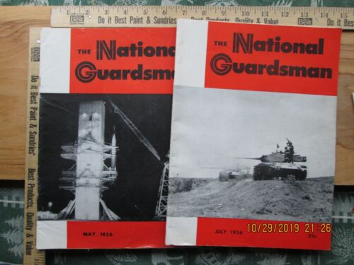 the national guardsman magazine 1956 lot of 2