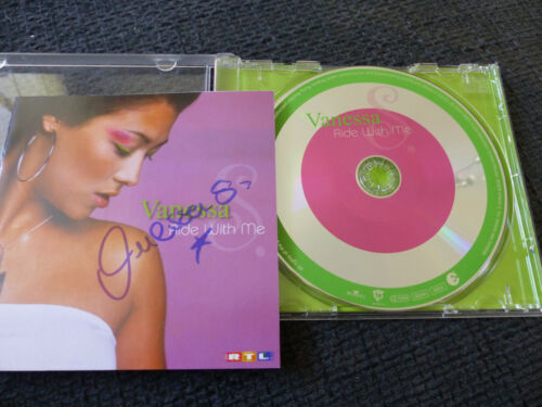 """VANESSA signed signiert Autogramm auf """"RIDE WITH ME"""" CD InPerson LOOK"""