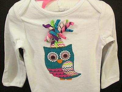Mud Pie First Birthday Owl Crawler w/Hair Clip Birthday, Size 9-12 Months, - Owl First Birthday