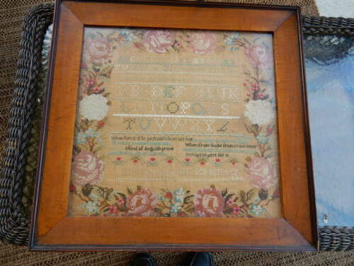 Antique Sampler 1842 With Spectacular Frame