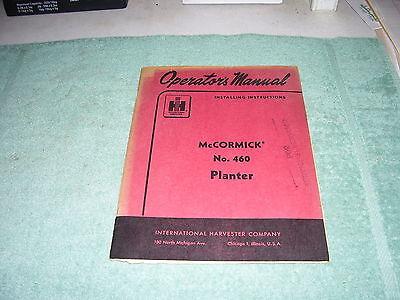 Ih Mccormick No. 460 Planter 1960 Original Operators Installing Manual