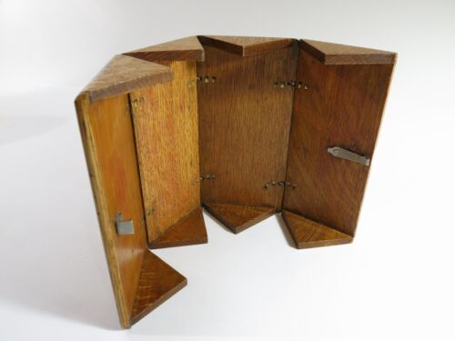 Refinished Antique 1889 Oak Accessory Puzzle Box — Singer Sewing Machine