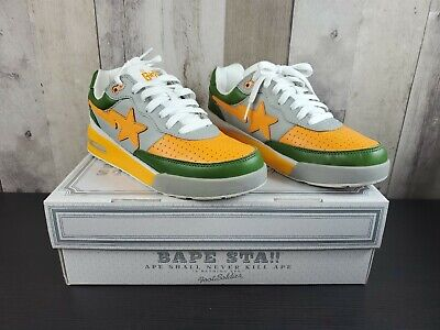 A Bathing Ape Bapesta FootSoldier Green/Orange/Grey Size 8 Rare Shoes