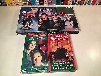 Family Holiday VHS Lot of 5 Christmas Gift The Gathering One Magic Holiday Heart