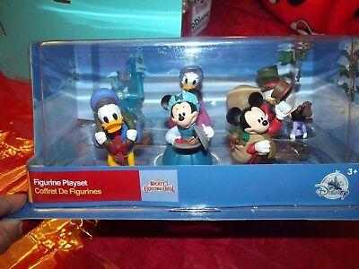 DISNEY Store Mickey's Christmas Carol Figurine 6 Figure Play set Cake Topper  ()