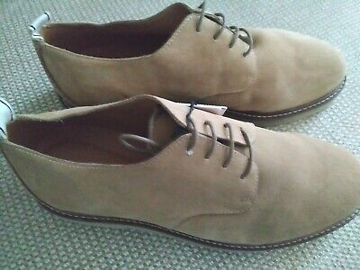Zara Man US 7 EU 40 medium  light brown leather rubber soles derby shoes