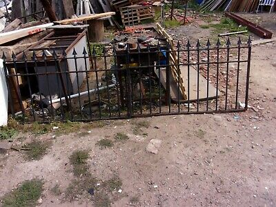 1   PAIR   OF  USED   WROUGHT IRON  GATES  8 f  11