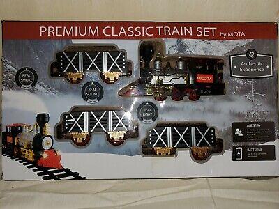Mota Premium Classic Train Set - Real Smoke, Sound & Light - Open Box