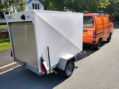 CONWAY BOX TRAILER ROLLER SHUTTER CAMPING STAYCATION VT506