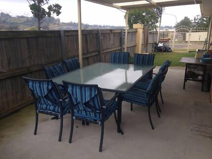10 Piece Outdoor Dining Table Set West Hoxton Liverpool Area Preview
