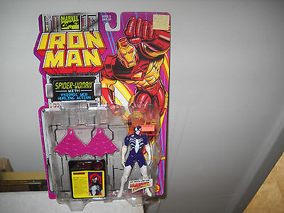 Iron Man Action FigureSpiderWomen vfnm on Card