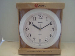 Advance Quartz Decorative Wall Clock Model No. 8001 Batteries Included NIB!