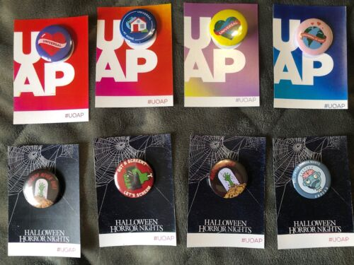 UOAP Universal Orlando Passholder At Home Buttons all 8 on cards