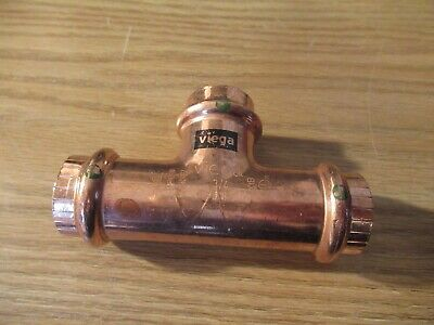 2 Viega Copper Tee Press X Press X Press Connection Type 34 X 34 X 34