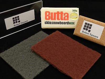 Snowboard / Ski Tuning Wax Kit with Butta Wax + Free Base Preparation Guide