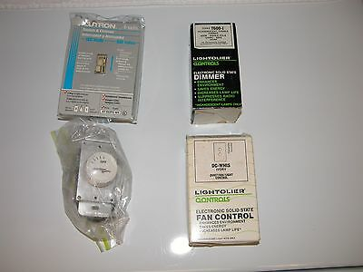 Light dimmers and fan switches, Lot of 4