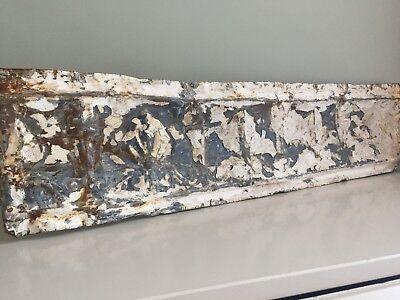 Antique Metal Tile Decorative Reclaimed Original Paint Rusted Patina 69x17cm