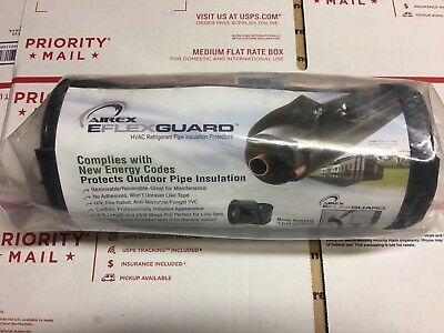 Lot Of 2 Airex E-flex Guard Hvac Copper Line Outdoor Pipe Insulation Protection
