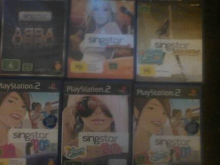 6 playstation 2 singstar games