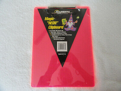 Magic Neon Pink Clipboard By Saunders 8 12 X 12 Free Shipping