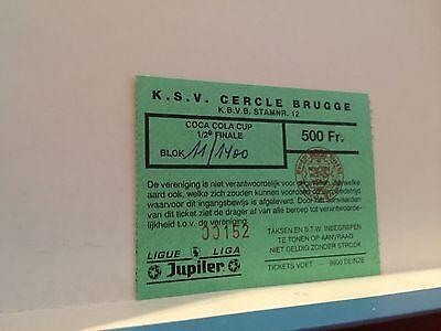 Football Ticket - UEFA - KSV Cercle Brugge- Antwerp - 1995 - Coca cola cup