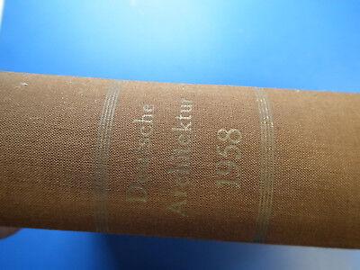DDR Zeitschrift-Architektur kompletter Jahrgang 1958 Luxusausgabe hier top Zust.