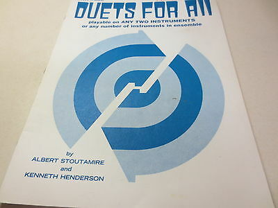 (Flute (Piccolo) Duets For All playable on any two instruments Albert Stoutamire)