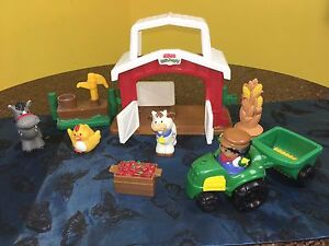 Fisher Price Little People Farm Animals & Stable Mermaid Waters Gold Coast City Preview