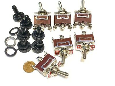 6 Pieces Waterproof Red 3pin Latching Lock Toggle Switch Boot Cap 12v 125v C41