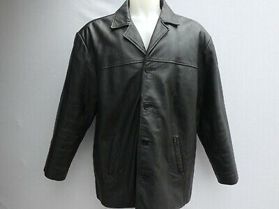 BEN SHERMAN BLACK LEATHER JACKET SIZE  XL VERY GOOD CONDITION!!!!!!