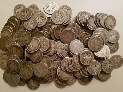 1 $.25 1892-1916 Barber Quarter Full Date U.S. Coin Classic AG or Better