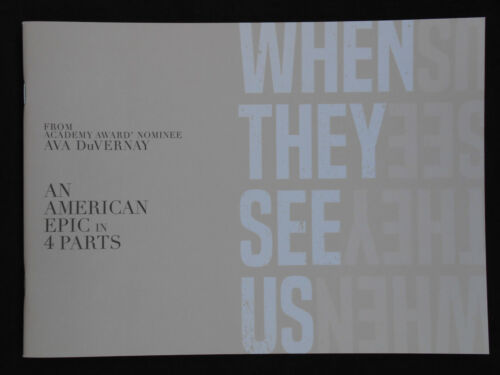 WHEN THEY SEE US FYC  PROMO BOOKLET JHARREL JEROME AVA DUVERNAY
