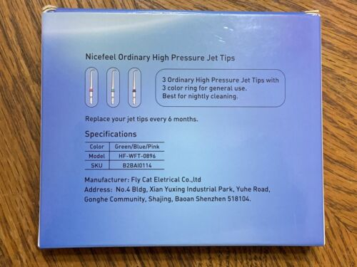 Nicefeel Replacement Water Flosser Tips 3 Pack BRAND NEW - HF-WFT-0896 - $5.99