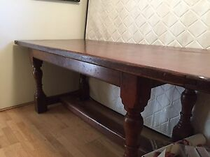 Dinning Room Table - Solid Oak Refectory Table Joondalup Joondalup Area Preview