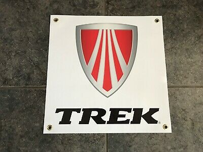 Trek bicycles banner sign shop garage MTB trail downhill mountain bike cycling