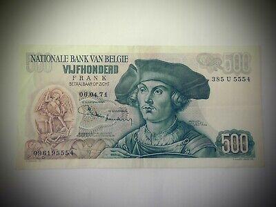 500 francs Belgique 06.04.71 crissant