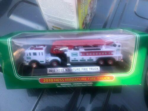 2010 Hess Miniature Fire Truck 100% Mint-in-Box   2010 Hess Mini Firetruck