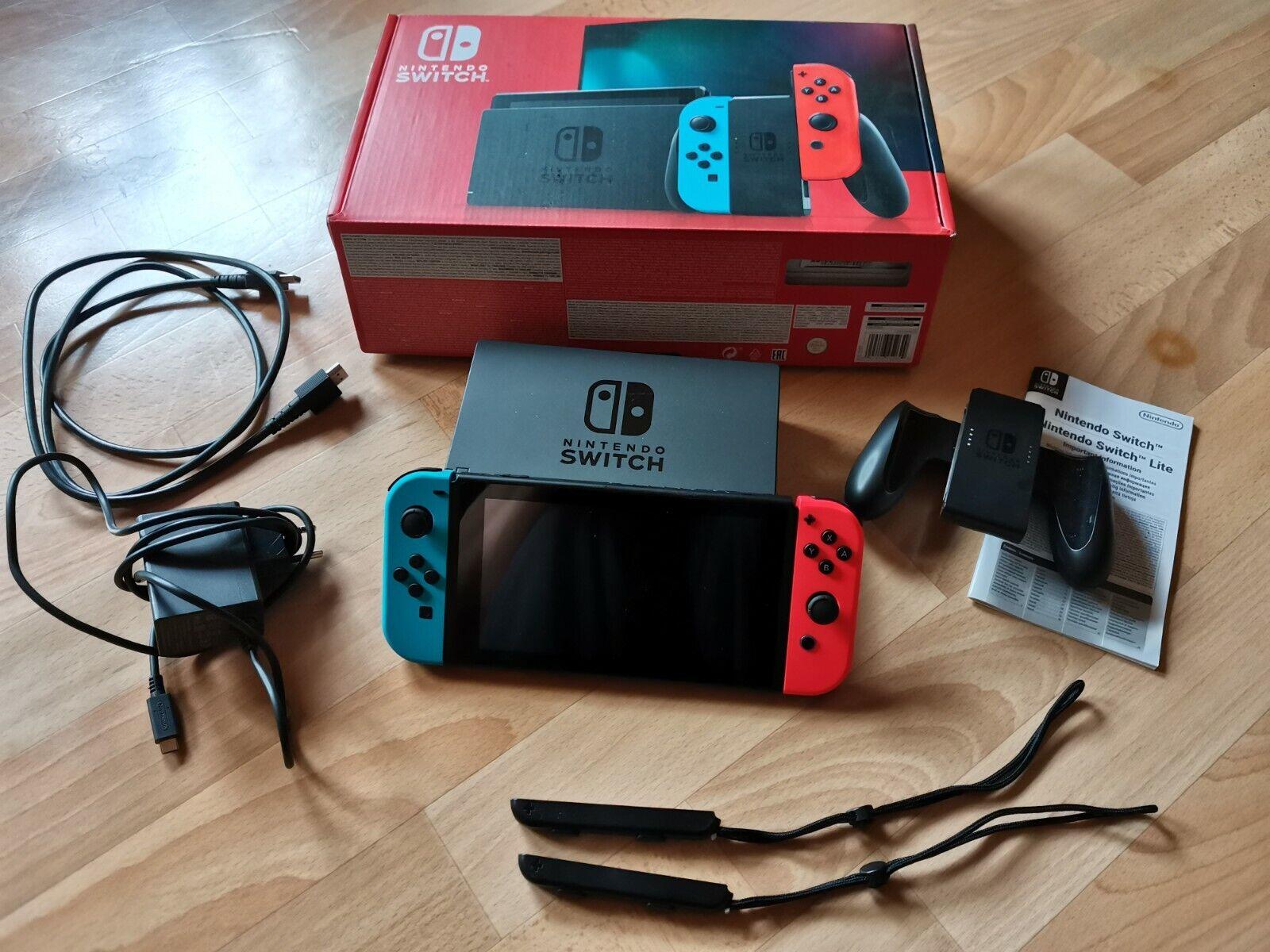 Nintendo Switch SpielekonsoleNeon-Rot/Neon-Blau (2019 Edition)