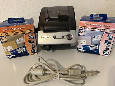 Brother P-touch Ql-500 Label Printer Connects To Pc With 2 Dk-1202 Labels