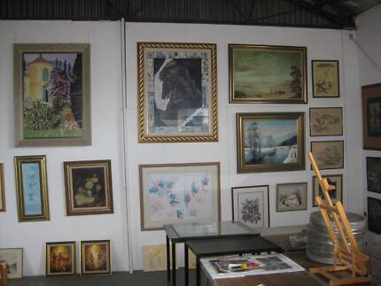 C & G Auctions Artist Studio Deceased Estate Auction Fyshwick South Canberra Preview