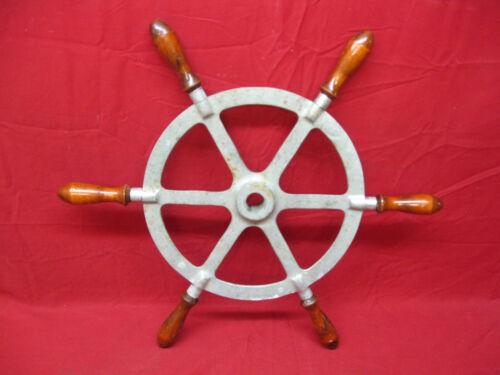 Vintage Nautical Ship Boat Steering Wheel Wood Handles