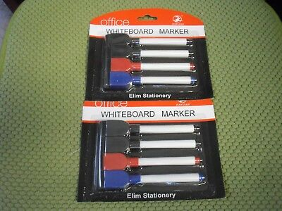 New 2 X 4 Pk Office Whiteboard Marker With Eraser Set