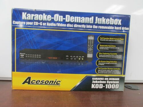 NEW Acesonic Karaoke-On-Demand Jukebox System KOD-1000  Multi-Format Player [12C