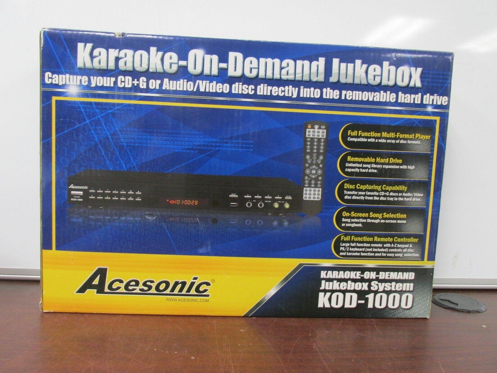 new karaoke on demand jukebox system kod