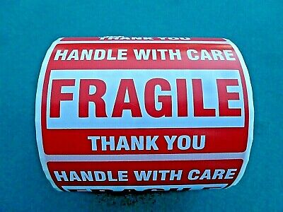 500 Roll Fragile Handle With Care Self Stick Stickers 3 X 2 Fast Usa Shipper
