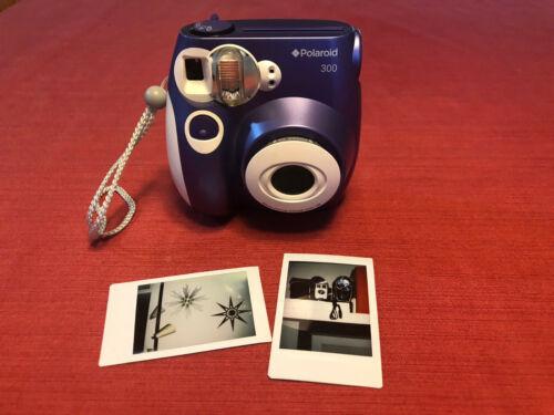 Purple and White Polaroid 300 Instant Camera - Working Great! Instax Fujifilm