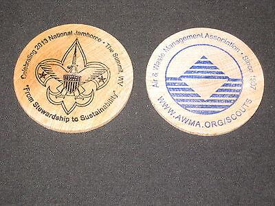 2013 National Jamboree Air   Waste Management Wooden Dollar Or Disk          Jf1