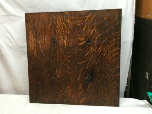 Vintage Architectural Salvage Oak Wood Table Top 24in x 24in