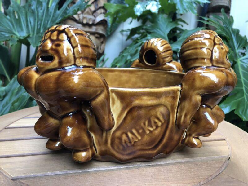 Mai Kai Vintage Mystery Bowl Tiki Mint Condition